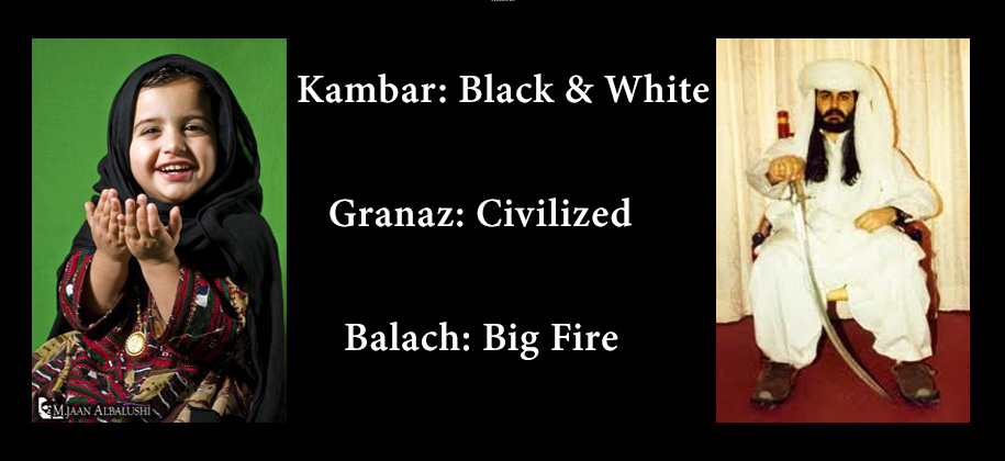 Balochi Traditional Names with English Meanings - The Baloch