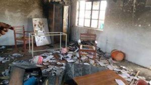 Burned school in Balochistan