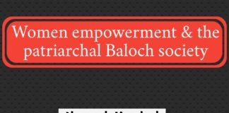 Women empowerment and the patriarchal Baloch society