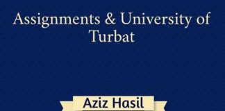 Assignments and University of Turbat