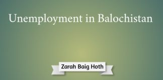 Unemployment in Balochistan Zarah Baig Hoth