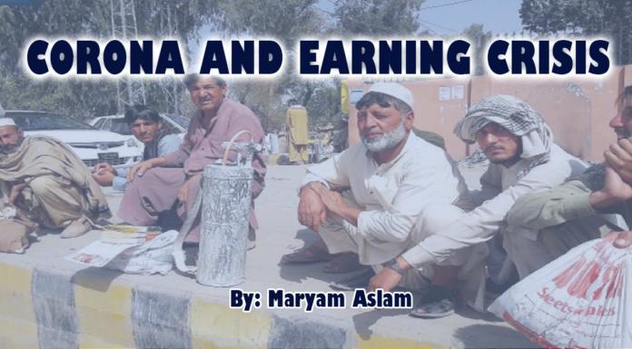 Corona and earning crisis maryam Aslam