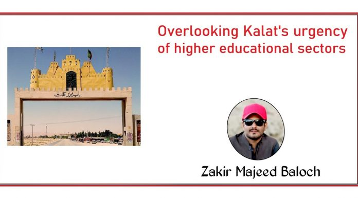 Overlooking kalats urgency of higher educational sectors