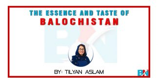 the essence and taste of balochistan Tilyan Aslam