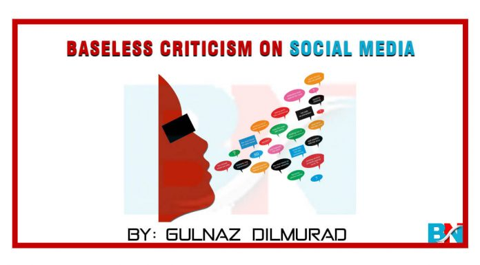 Baseless criticism on Social Media