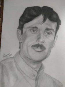Art by Gul Mohammad Baloch - Noor Khan Bezanjo Art
