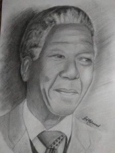 Art by Gul Mohammad Baloch - Nelson Mandela Art