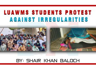 LUAWMS students protest against irregularities