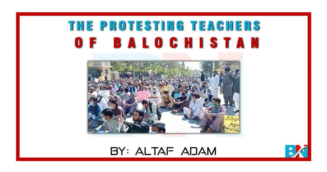 The protesting Teachers of Balochistan by Altaf Adam