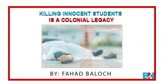 Killing Innocent Students is a Colonial Legacy