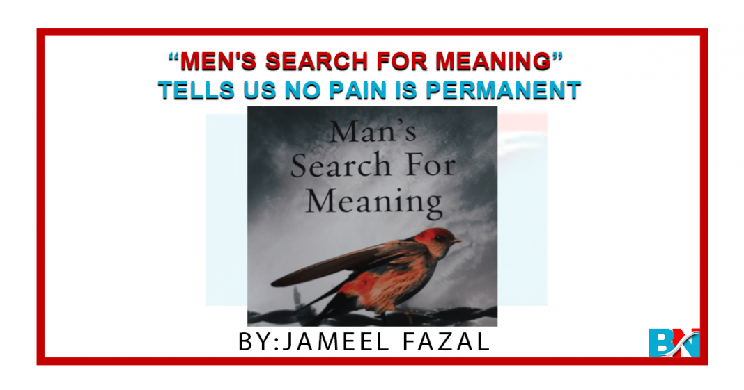 Men's Search For Meaning Tells Us No Pain Is Permanent